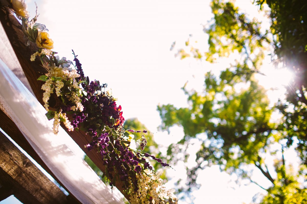 Ceremony Flowers The Vineyards at Betty's Creek Sylva NC Wedding Photographers