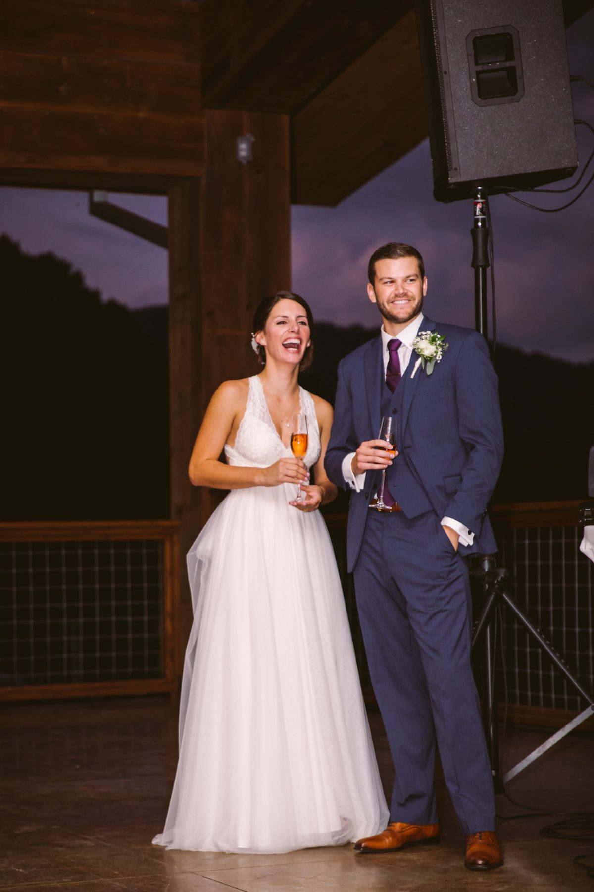 Toasts The Vineyards at Betty's Creek Sylva NC Wedding Photographers
