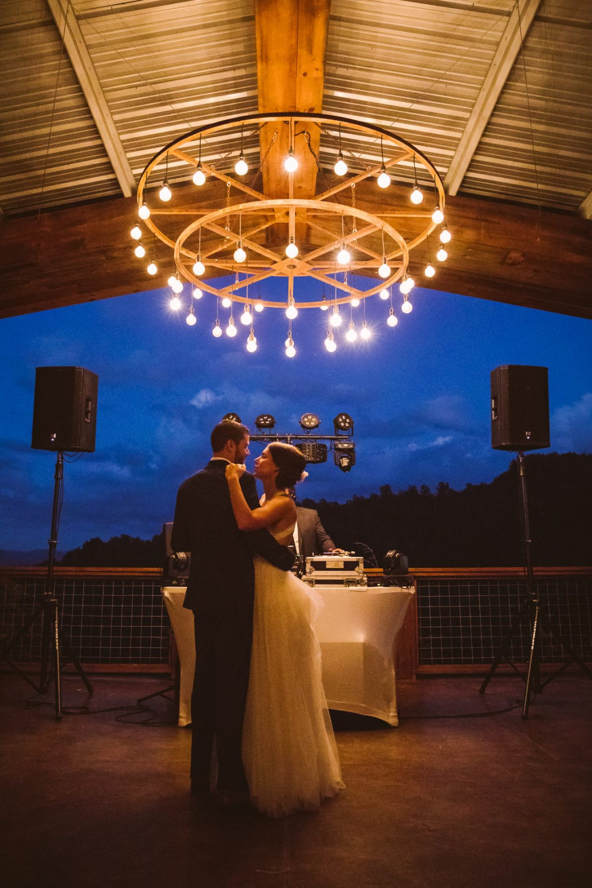 First Dance The Vineyards at Betty's Creek Sylva NC Wedding Photographers