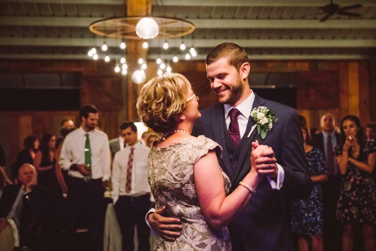 Mother Son Dance The Vineyards at Betty's Creek Sylva NC Wedding Photographers