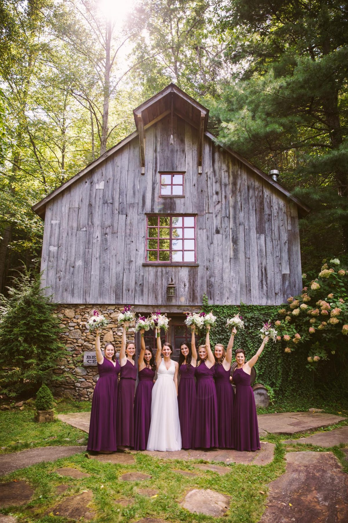 Bridesmaid Portrait The Vineyards at Betty's Creek Sylva NC Wedding Photographers