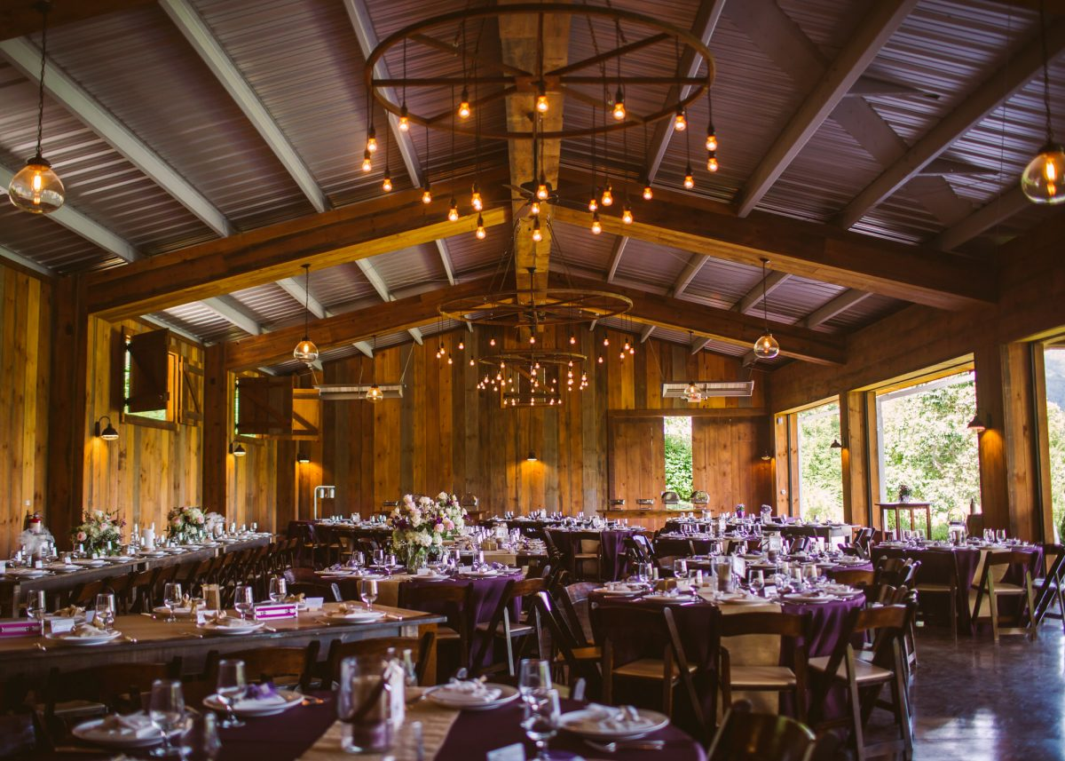 Reception Hall The Vineyards at Betty's Creek Sylva NC Wedding Photographers