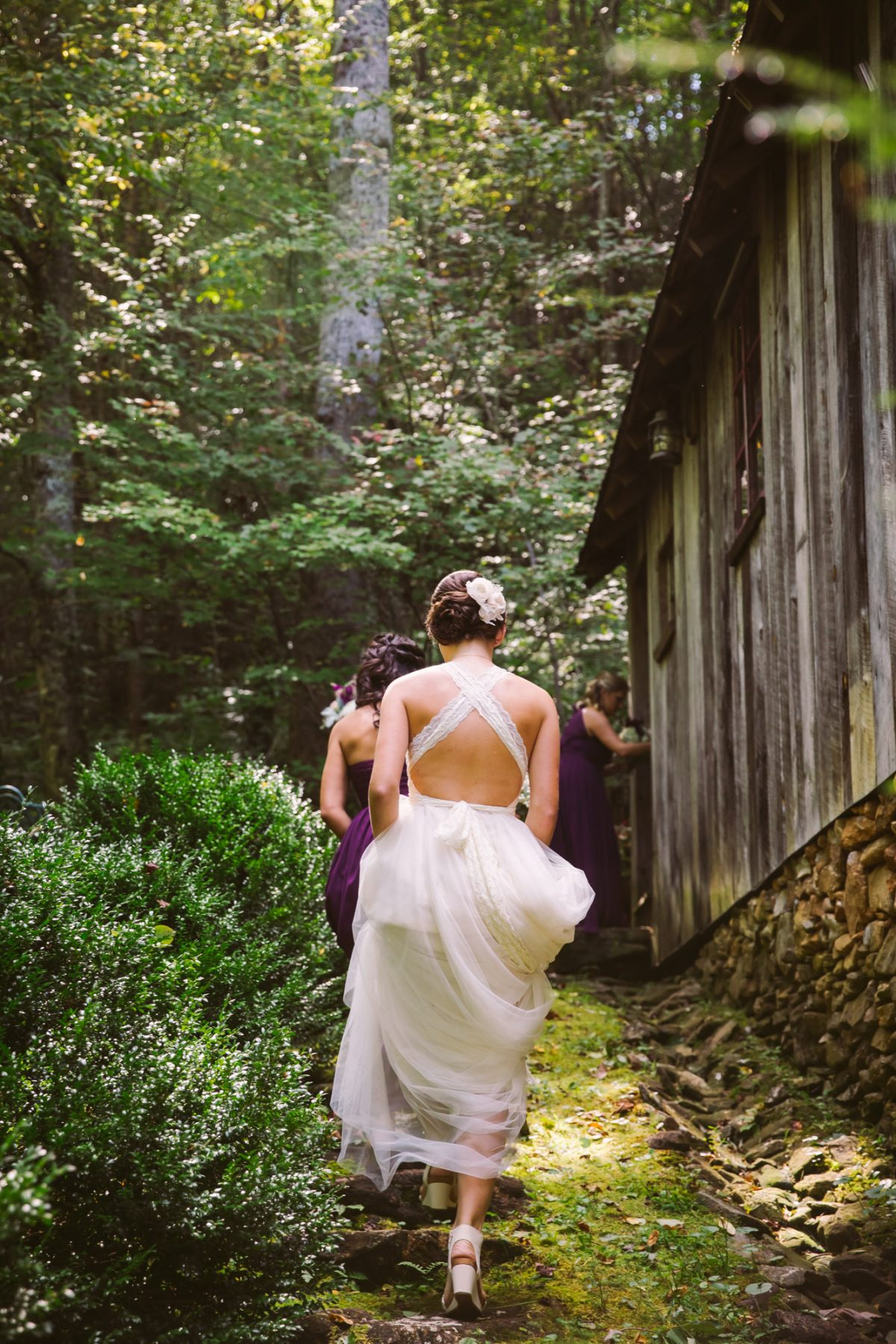 Bridal Candid The Vineyards at Betty's Creek Sylva NC Wedding Photographers