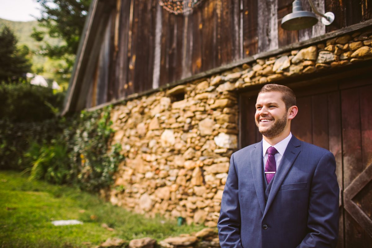 Groom Portrait The Vineyards at Betty's Creek Sylva NC Wedding Photographers