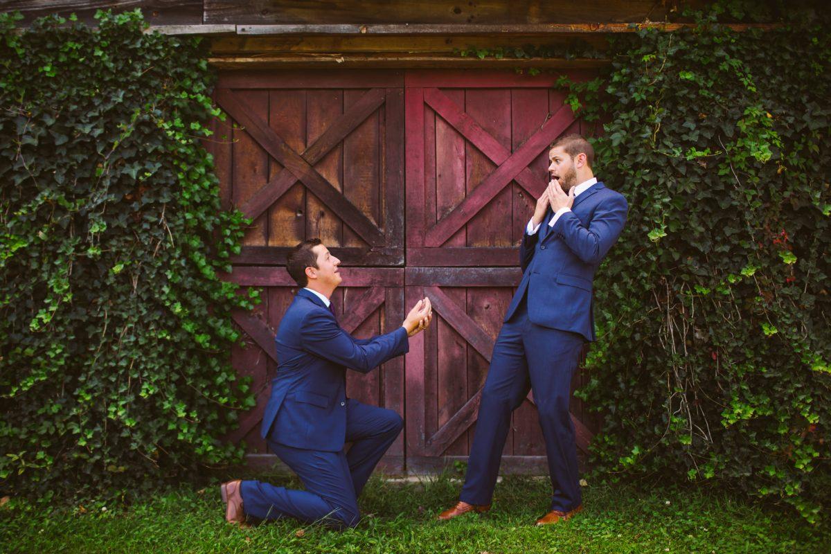 Goofy Groomsmen Portrait The Vineyards at Betty's Creek Sylva NC Wedding Photographers