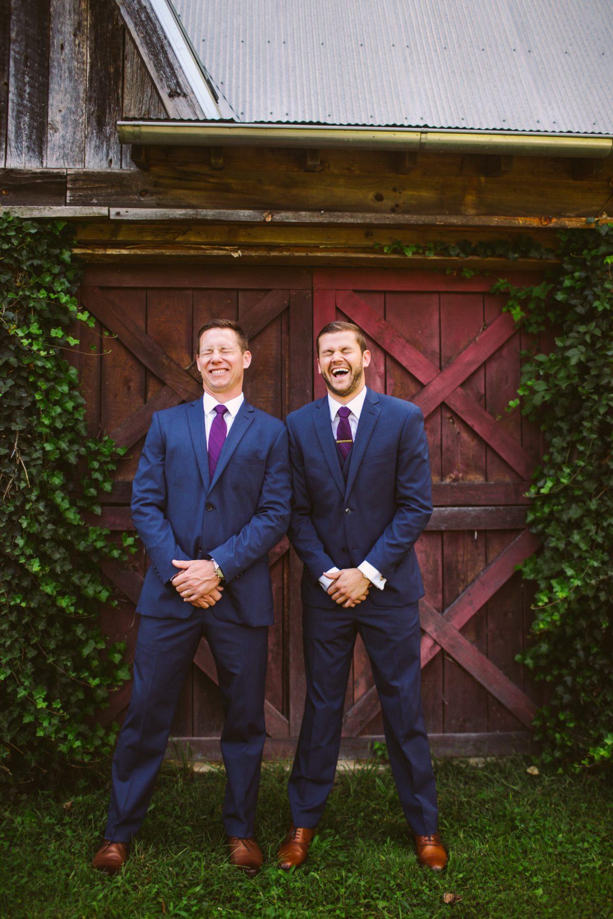 Groomsmen Portrait The Vineyards at Betty's Creek Sylva NC Wedding Photographers