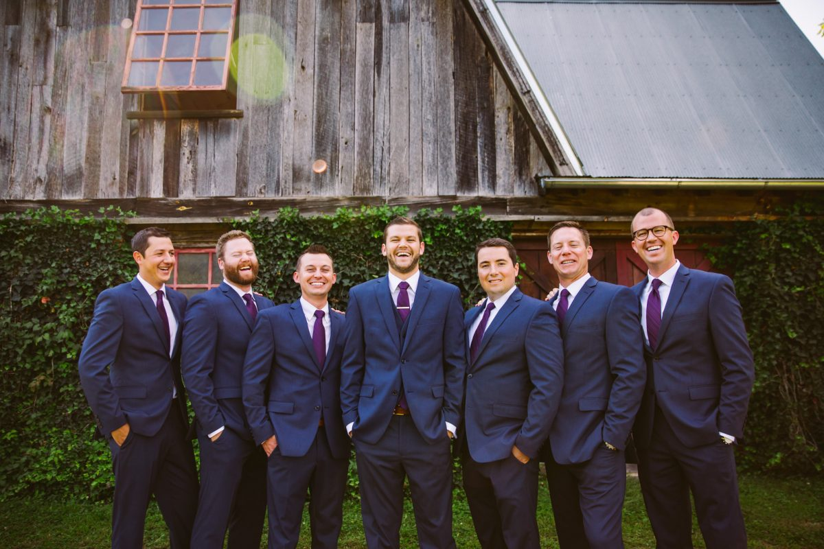 Groomsmen Portrait The Vineyards at Betty's Creek Sylva NC Wedding Photographers