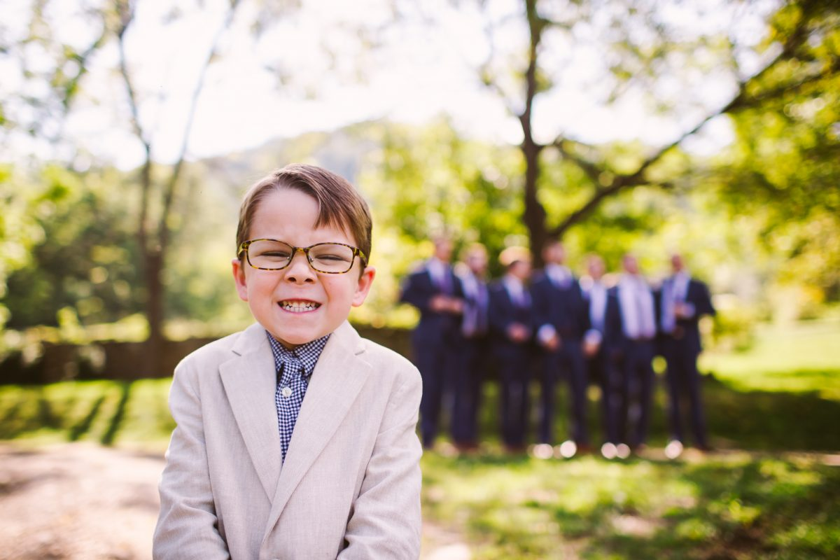 Ring Bearer Portrait The Vineyards at Betty's Creek Sylva NC Wedding Photographers