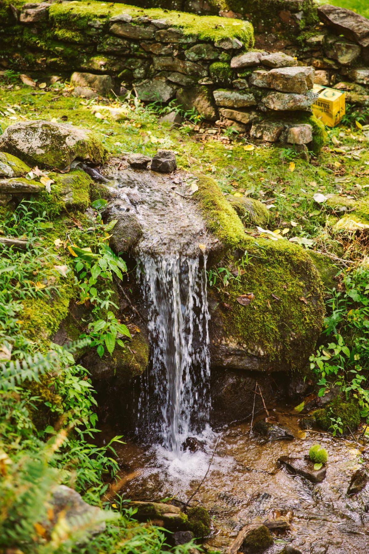 Waterfall The Vineyards at Betty's Creek Sylva NC Wedding Photographers