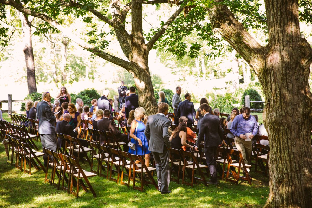 Ceremony Guests Arriving The Vineyards at Betty's Creek Sylva NC Wedding Photographers