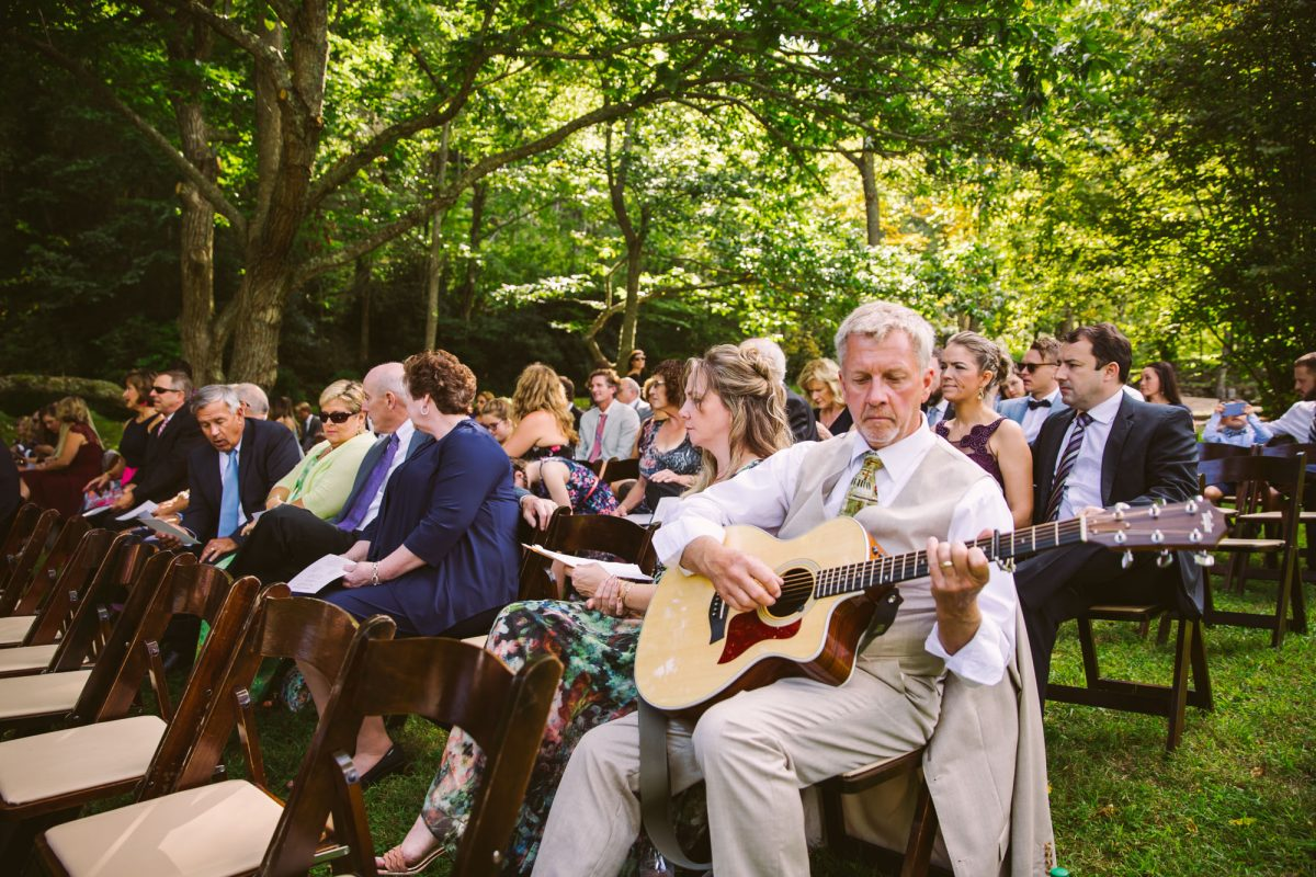 Ceremony Music The Vineyards at Betty's Creek Sylva NC Wedding Photographers
