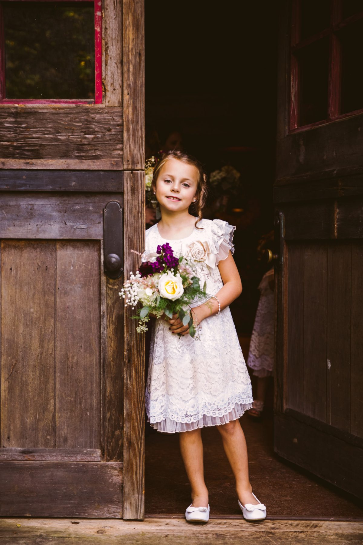 Flower Girl Portrait The Vineyards at Betty's Creek Sylva NC Wedding Photographers