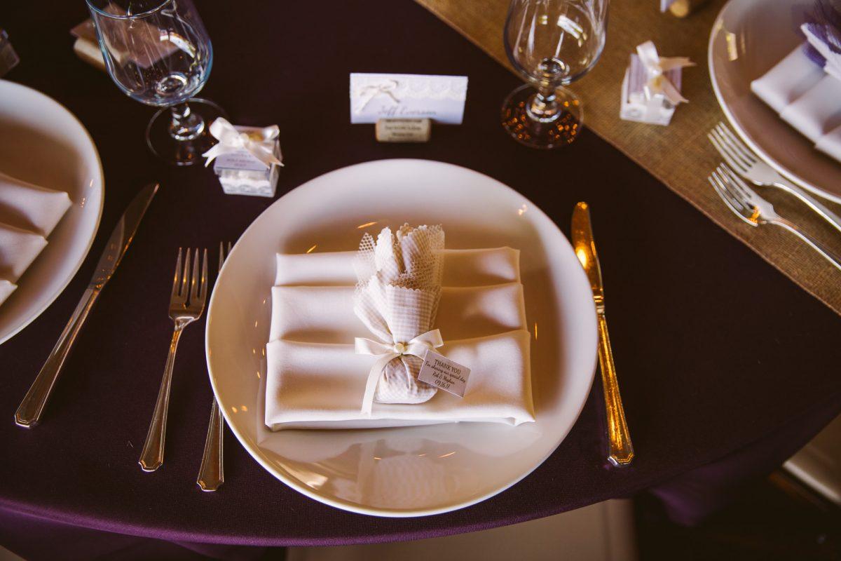 Table Setting The Vineyards at Betty's Creek Sylva NC Wedding Photographers