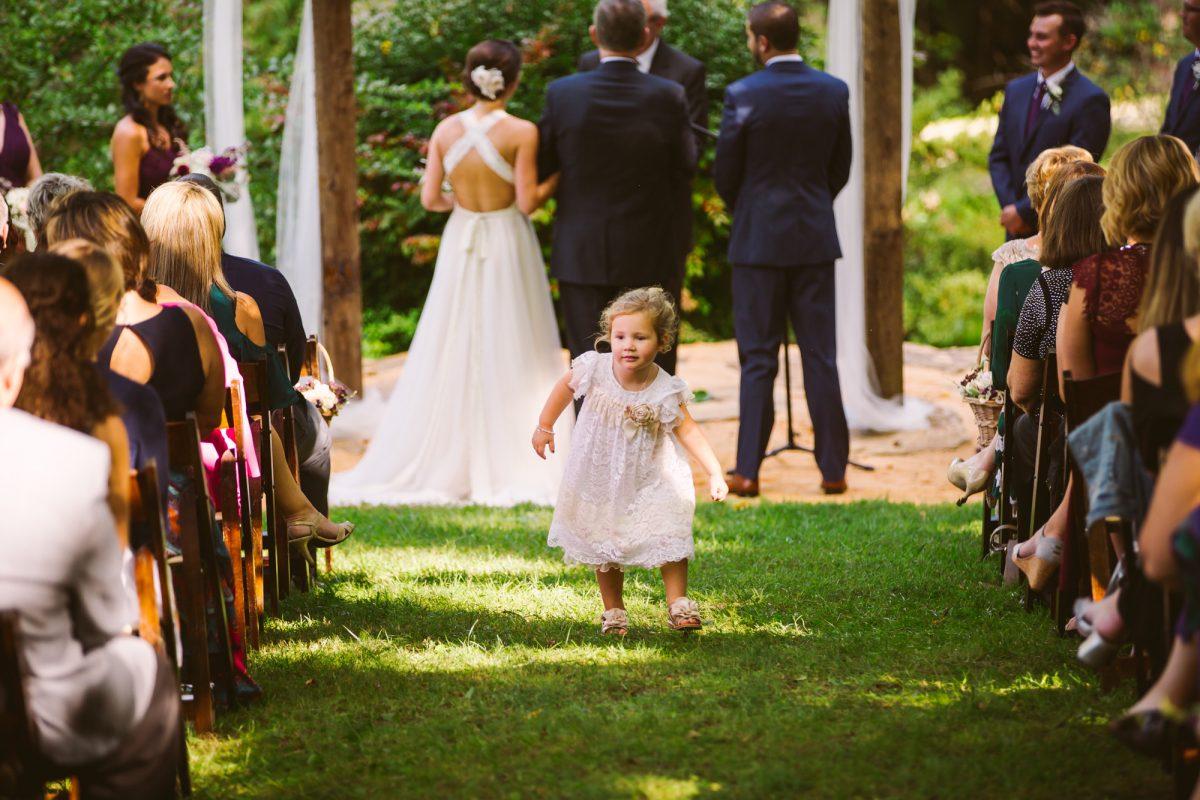 Ceremony The Vineyards at Betty's Creek Sylva NC Wedding Photographers