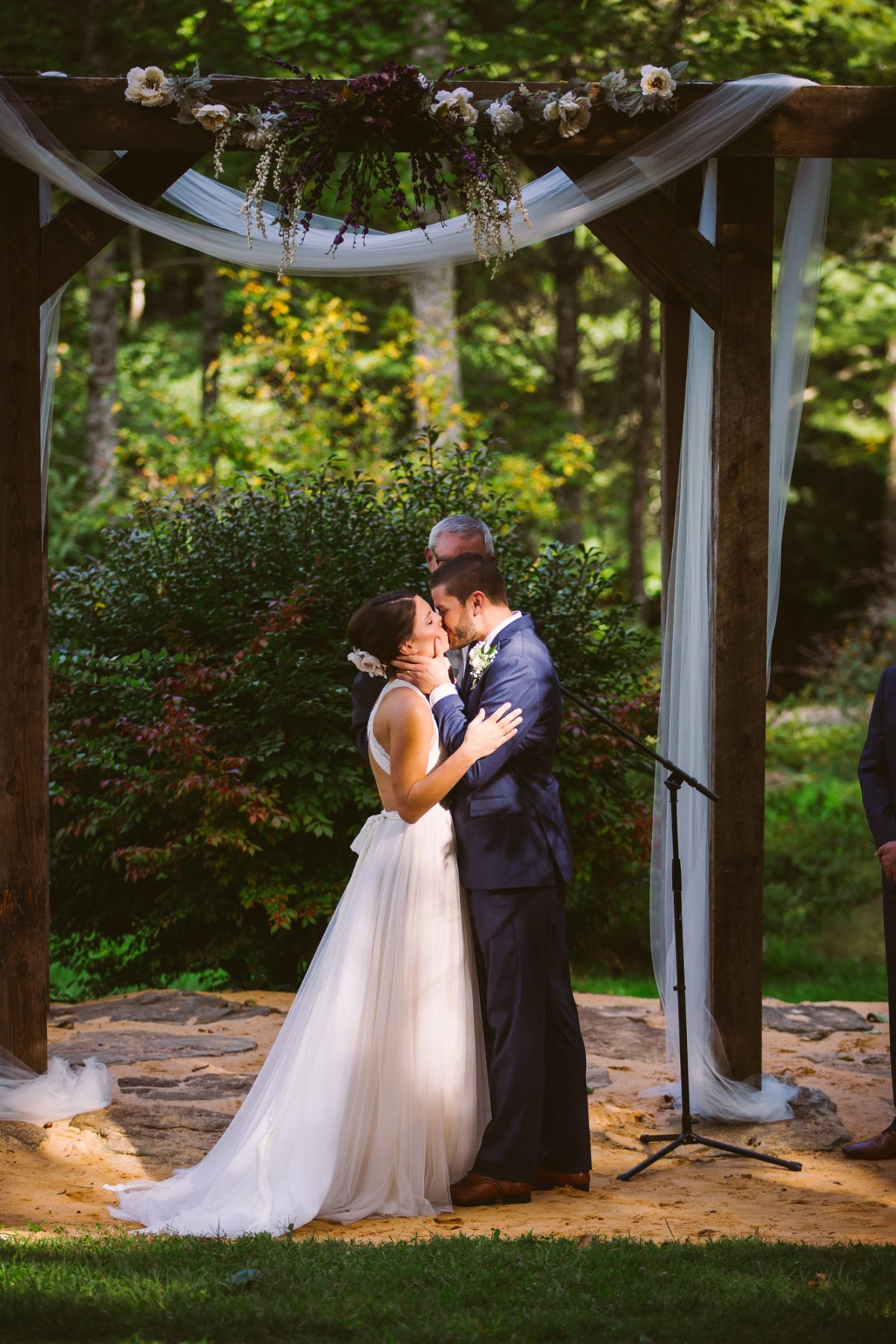 The Kiss The Vineyards at Betty's Creek Sylva NC Wedding Photographers