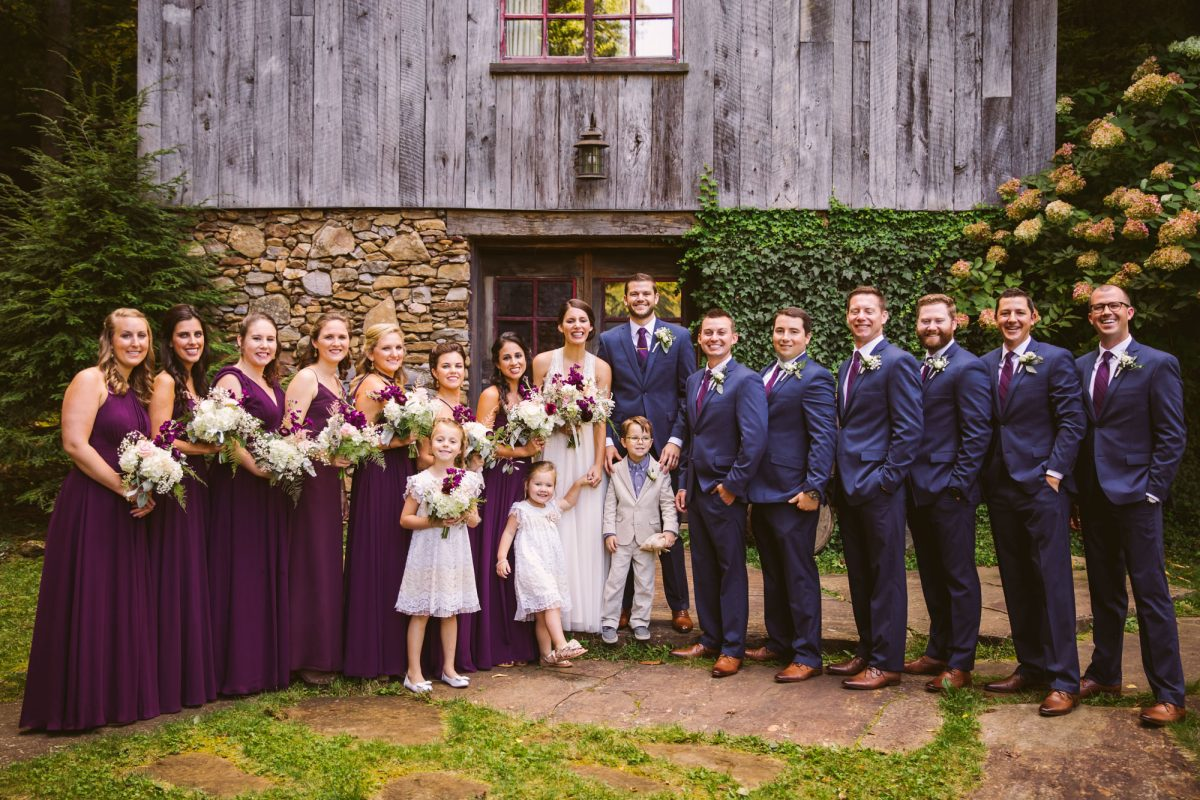 Bridal Party Portrait The Vineyards at Betty's Creek Sylva NC Wedding Photographers