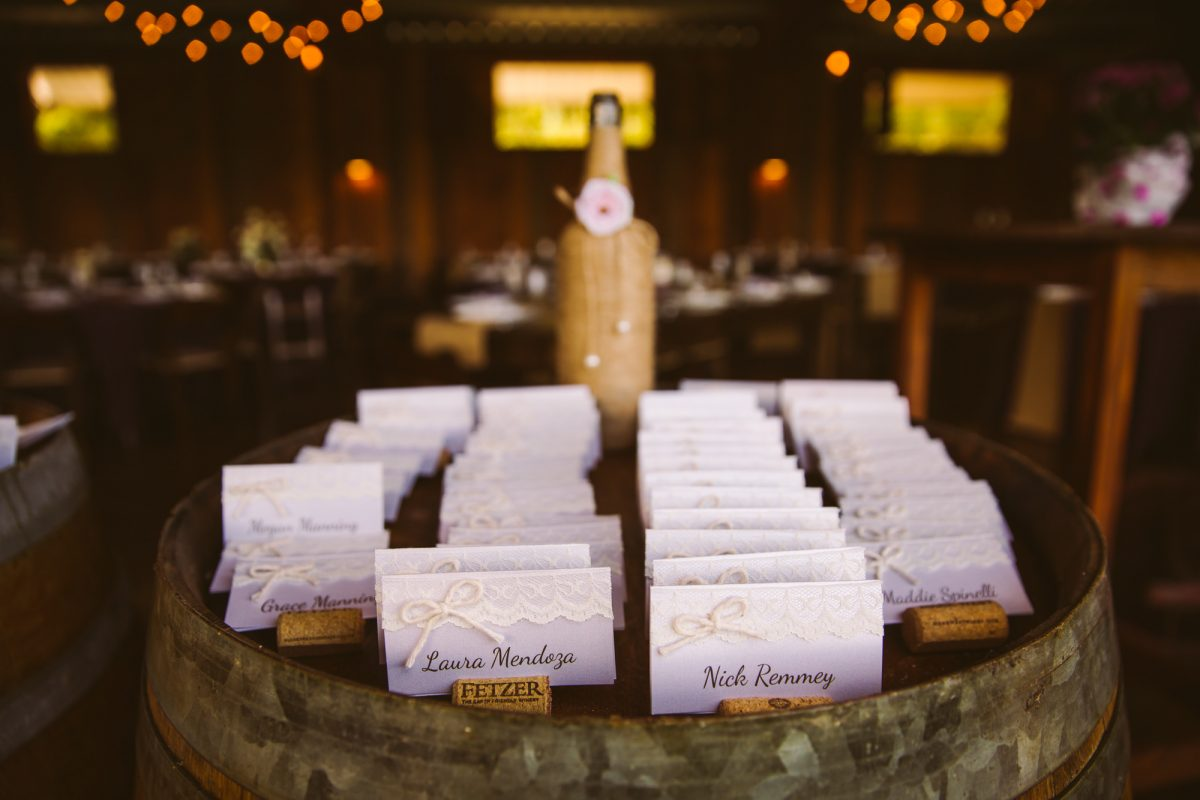 Reception Name Tags The Vineyards at Betty's Creek Sylva NC Wedding Photographers