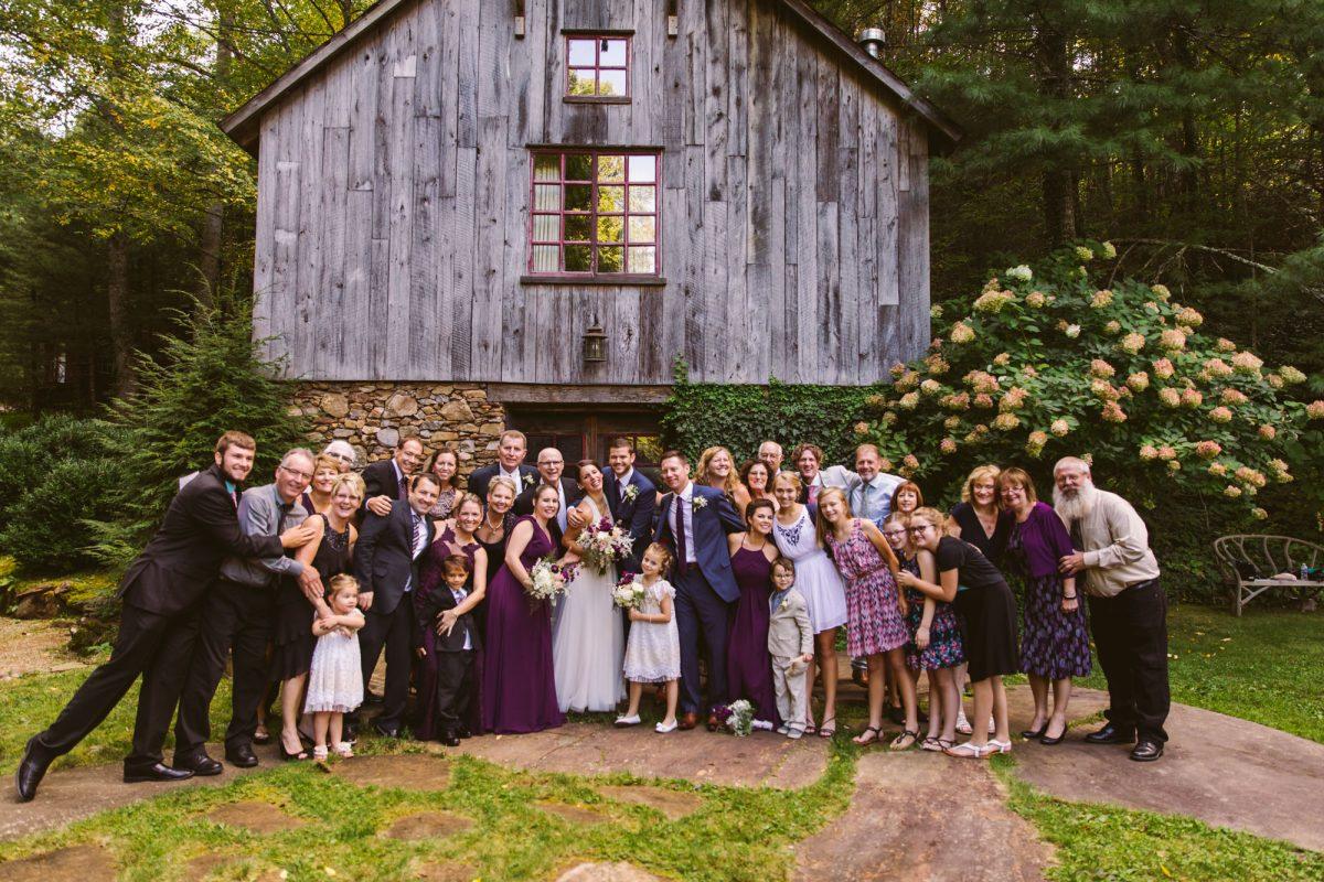Family Portrait The Vineyards at Betty's Creek Sylva NC Wedding Photographers