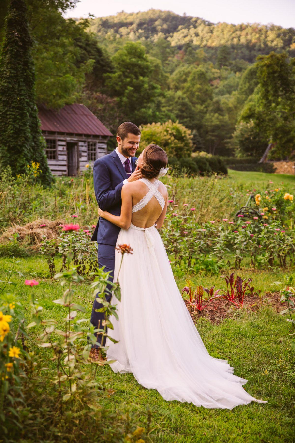 Couples Portrait The Vineyards at Betty's Creek Sylva NC Wedding Photographers