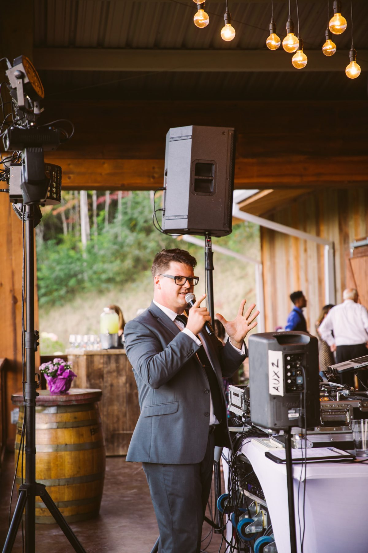 DJ Kippur The Vineyards at Betty's Creek Sylva NC Wedding Photographers