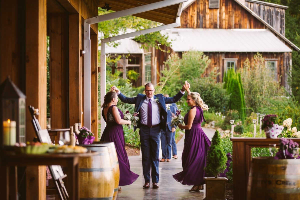 Bridal Party Entrance The Vineyards at Betty's Creek Sylva NC Wedding Photographers