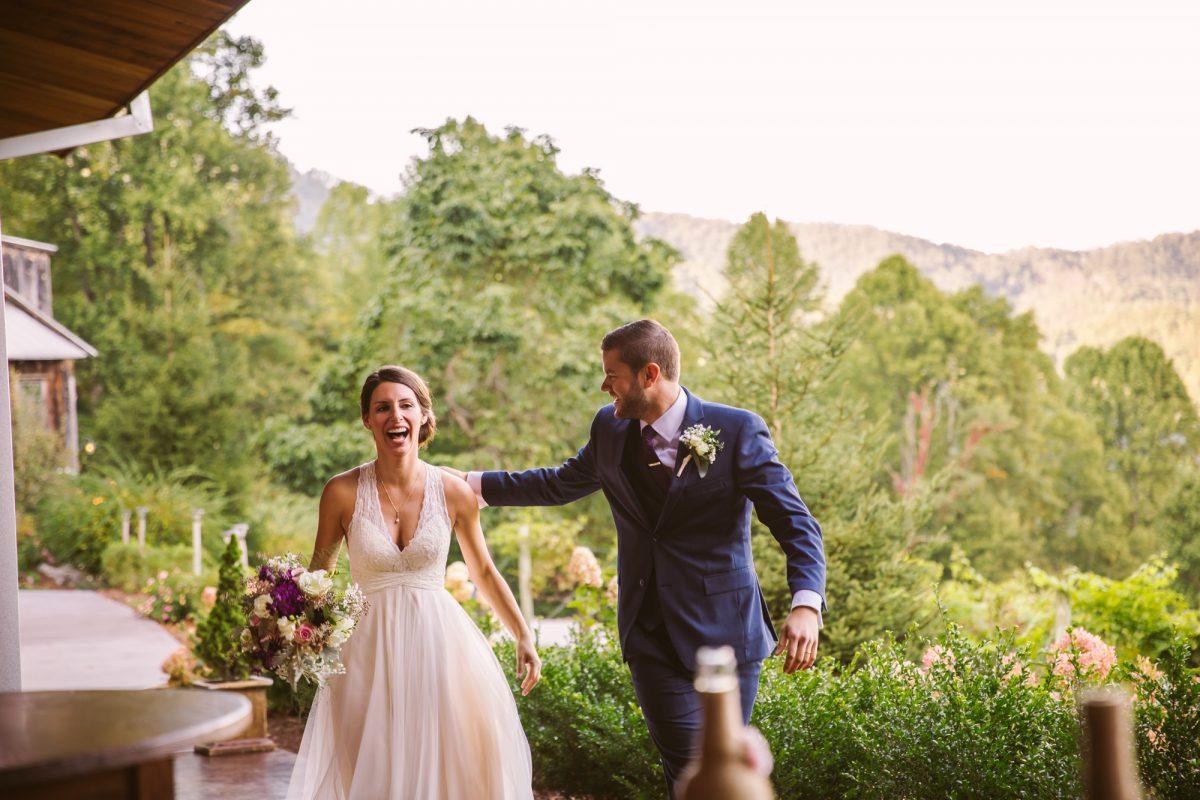 Grand Entrance The Vineyards at Betty's Creek Sylva NC Wedding Photographers