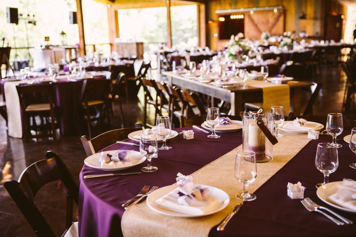 Reception Hall The Vineyards at Betty's Creek Sylva NC Wedding Photographers