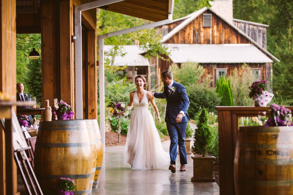 Grand Entrance The Vineyards at Betty's Creek Sylva NC Wedding Photographers