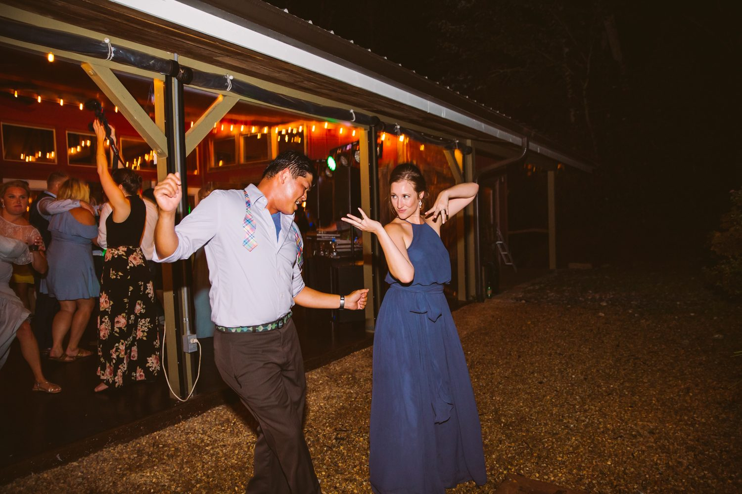 Dance Floor Sawyer Family Farmstead Cashiers NC Wedding Photographers