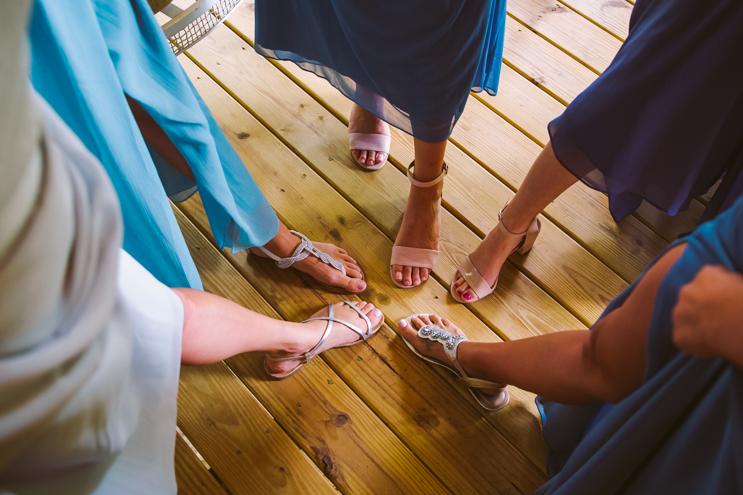Bridesmaids shoes Sawyer Family Farmstead Cashiers NC Wedding Photographers