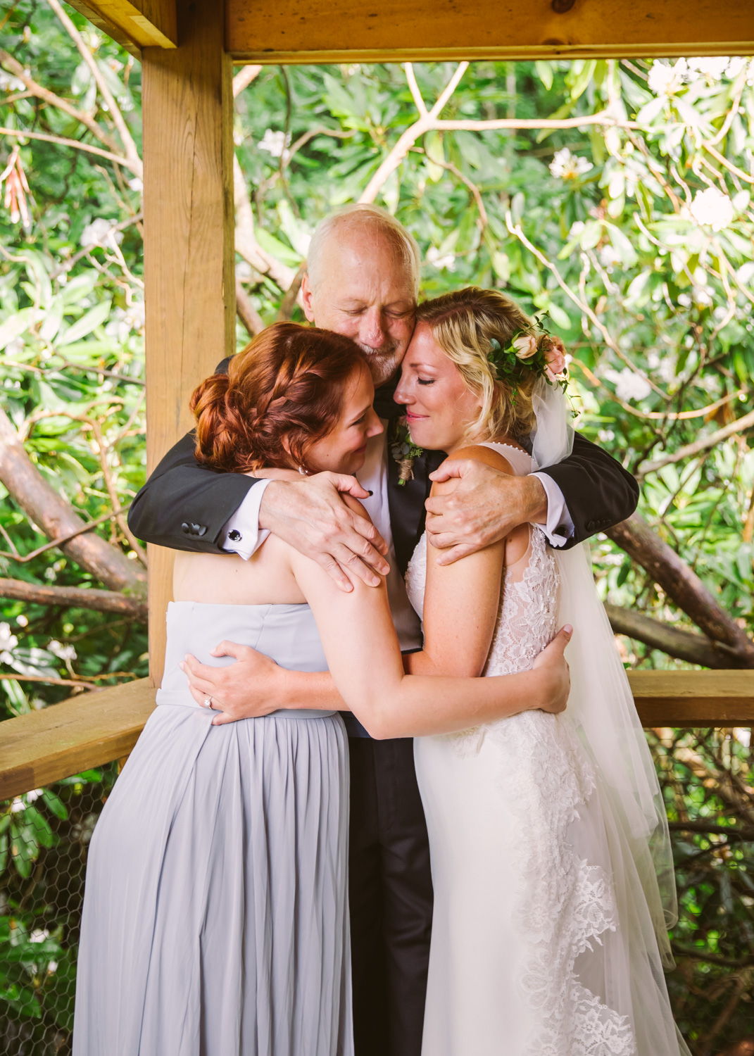 First Look with Dad Sawyer Family Farmstead Cashiers NC Wedding Photographers