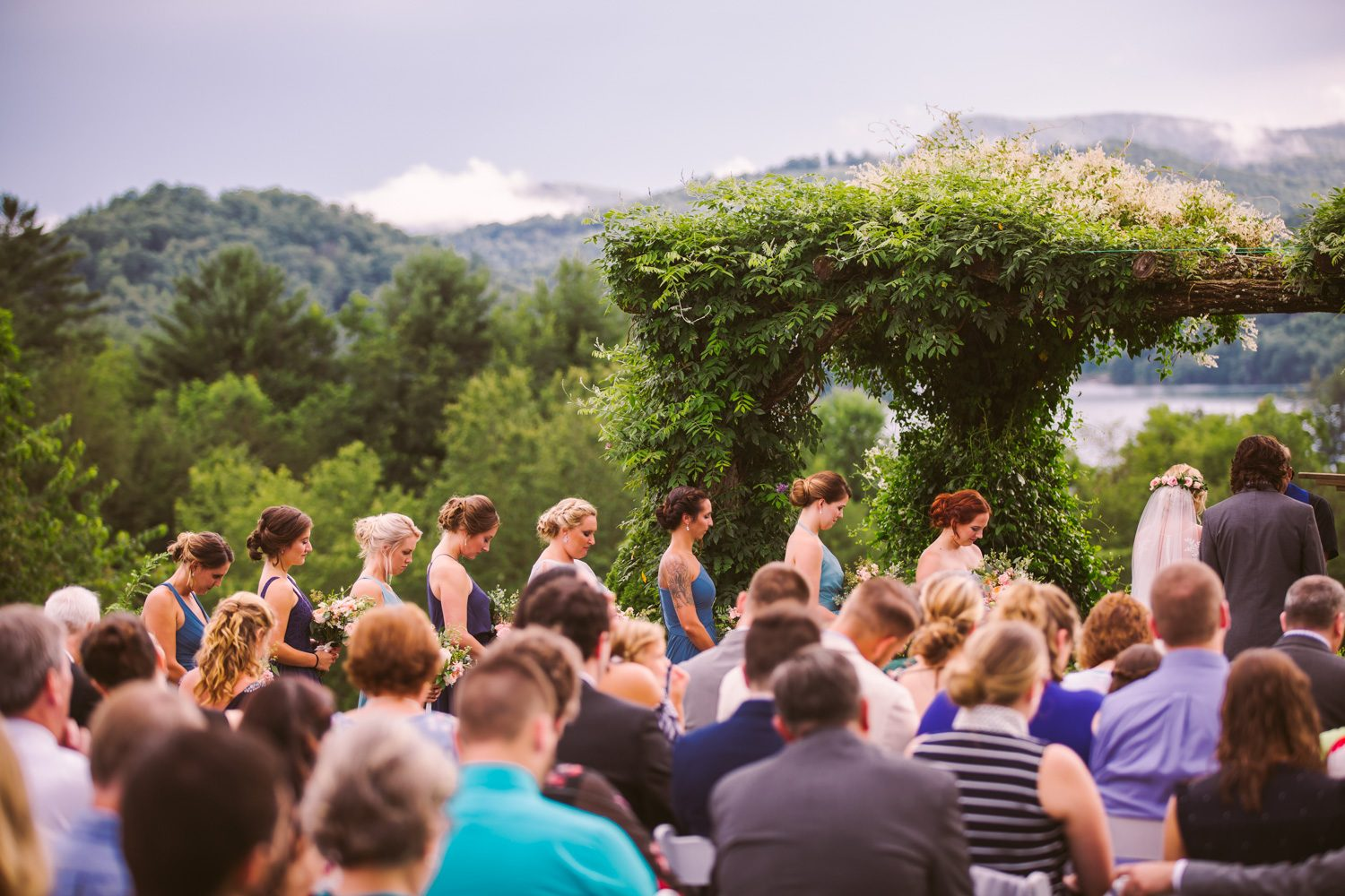 Ceremony Sawyer Family Farmstead Cashiers NC Wedding Photographers