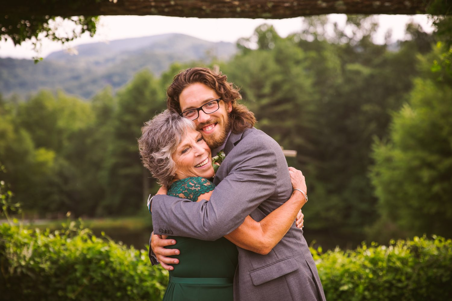 Mother Son Portrait Sawyer Family Farmstead Cashiers NC Wedding Photographers