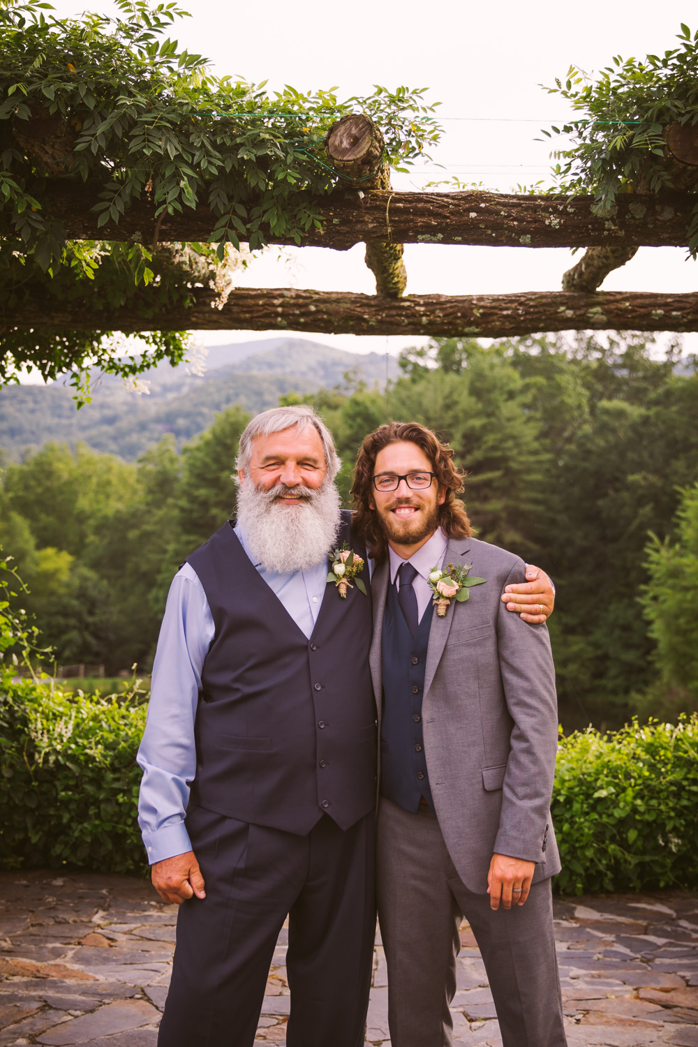 Father Son Portrait Sawyer Family Farmstead Cashiers NC Wedding Photographers