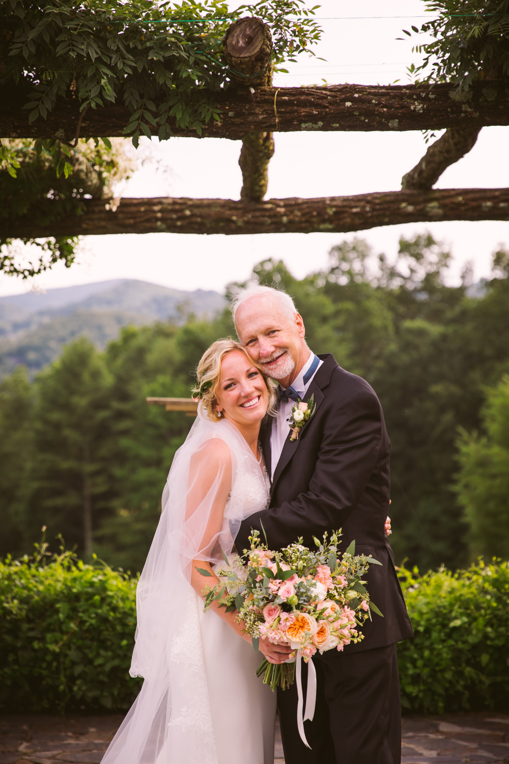 Father Daughter Portrait Sawyer Family Farmstead Cashiers NC Wedding Photographers