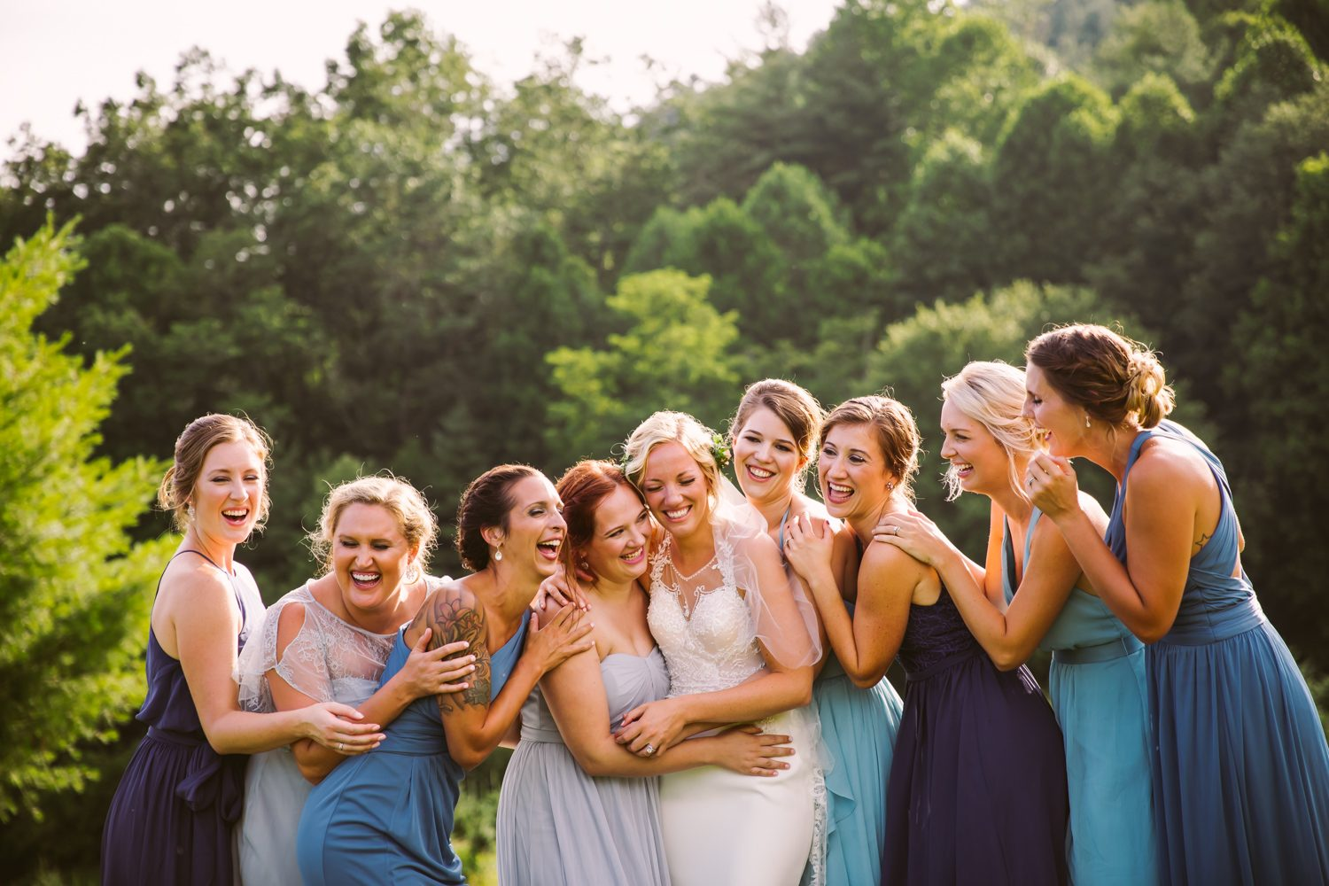 Bridesmaid Portrait Sawyer Family Farmstead Cashiers NC Wedding Photographers