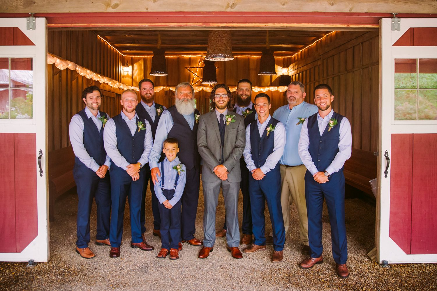 Groomsmen Portrait Sawyer Family Farmstead Cashiers NC Wedding Photographers