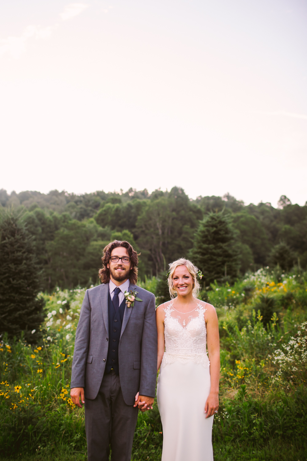 Couples Portrait Sawyer Family Farmstead Cashiers NC Wedding Photographers