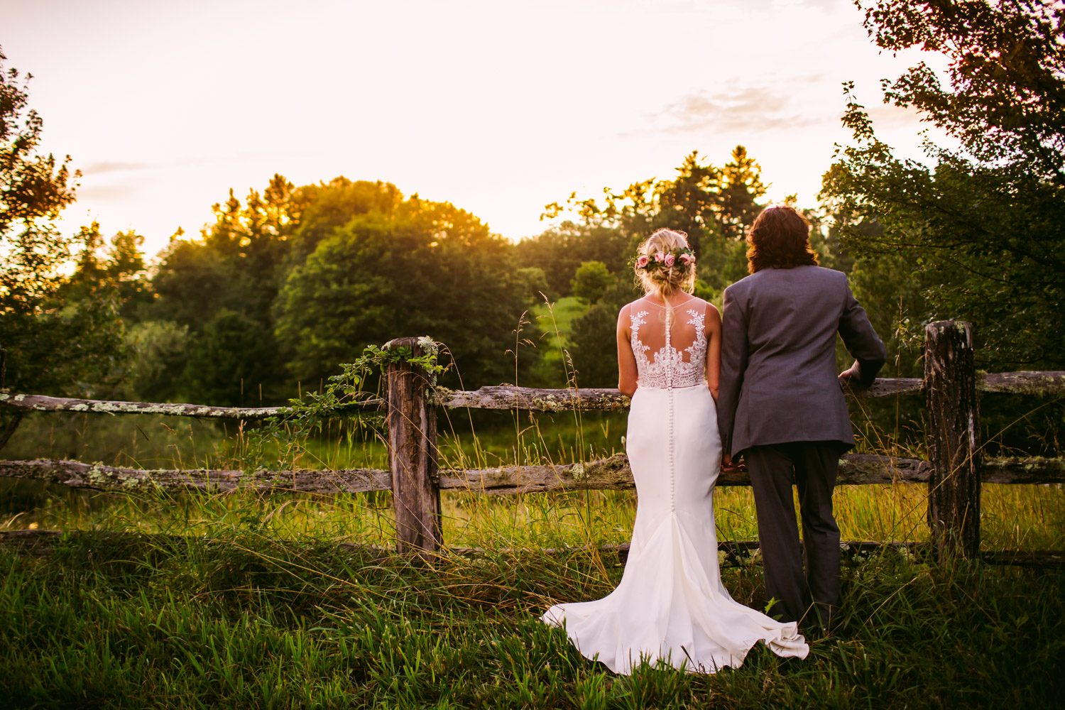Sunset Portrait Sawyer Family Farmstead Cashiers NC Wedding Photographers