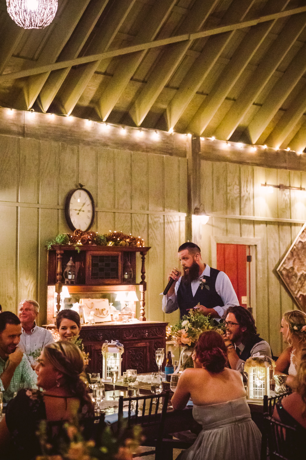 Speeches and Toast Sawyer Family Farmstead Cashiers NC Wedding Photographers
