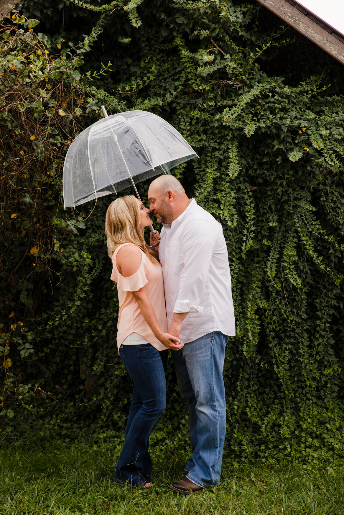 Engagement Session In the Rain The Farm - A Gathering Place Candler NC Wedding Photography