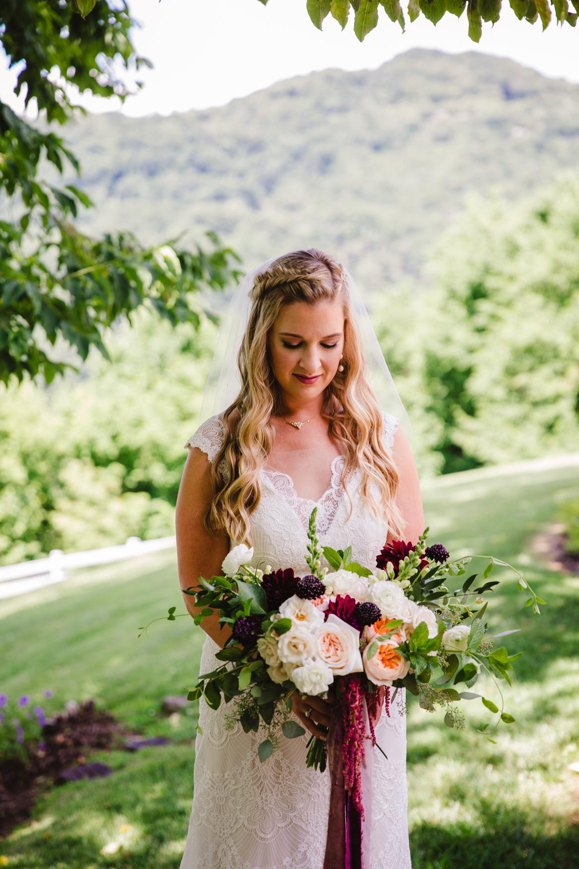 Wedding Bridal Photo Waynesville NC Wedding Photographers