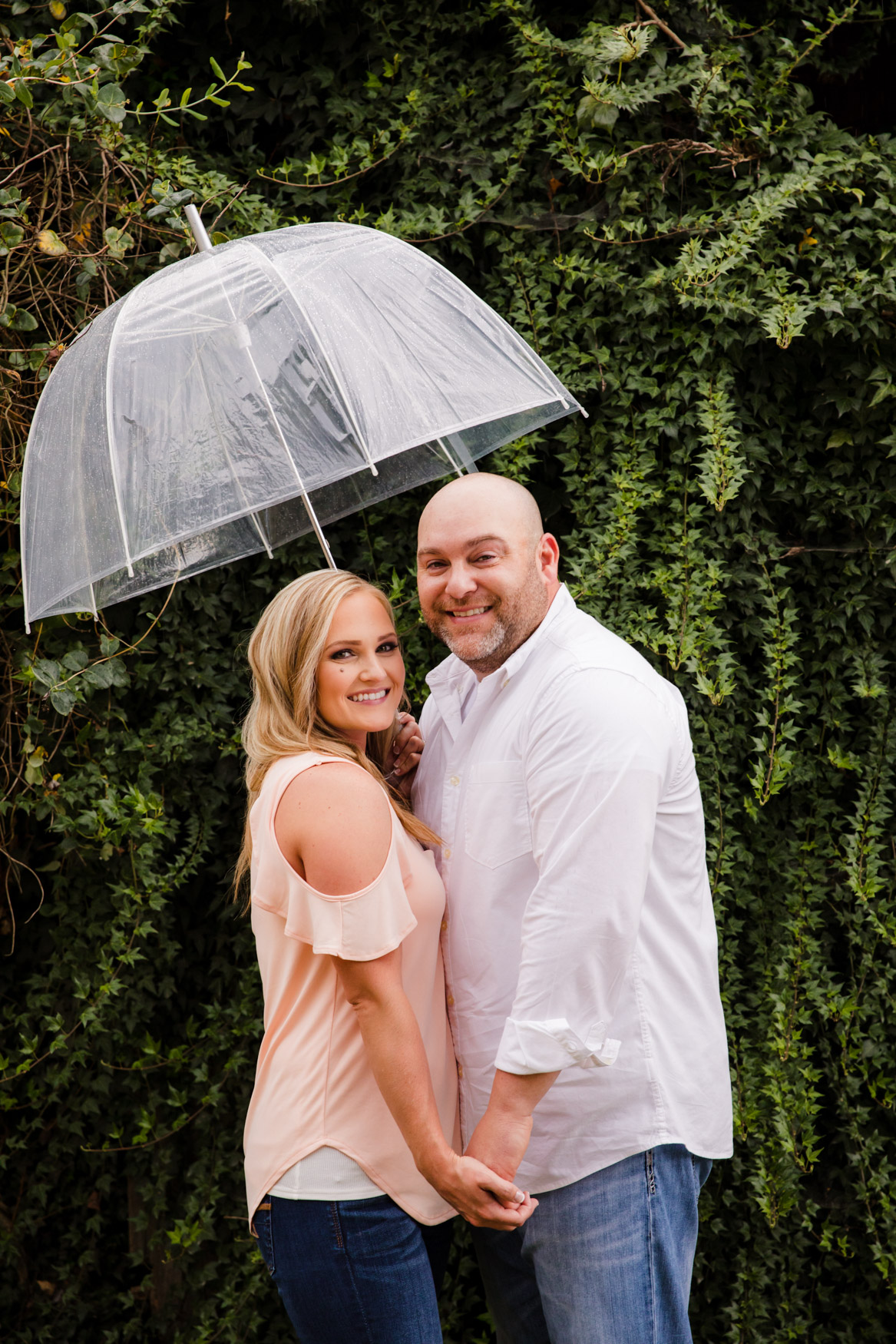 Engagement Session Umbrella The Farm - A Gathering Place Candler NC Wedding Photography