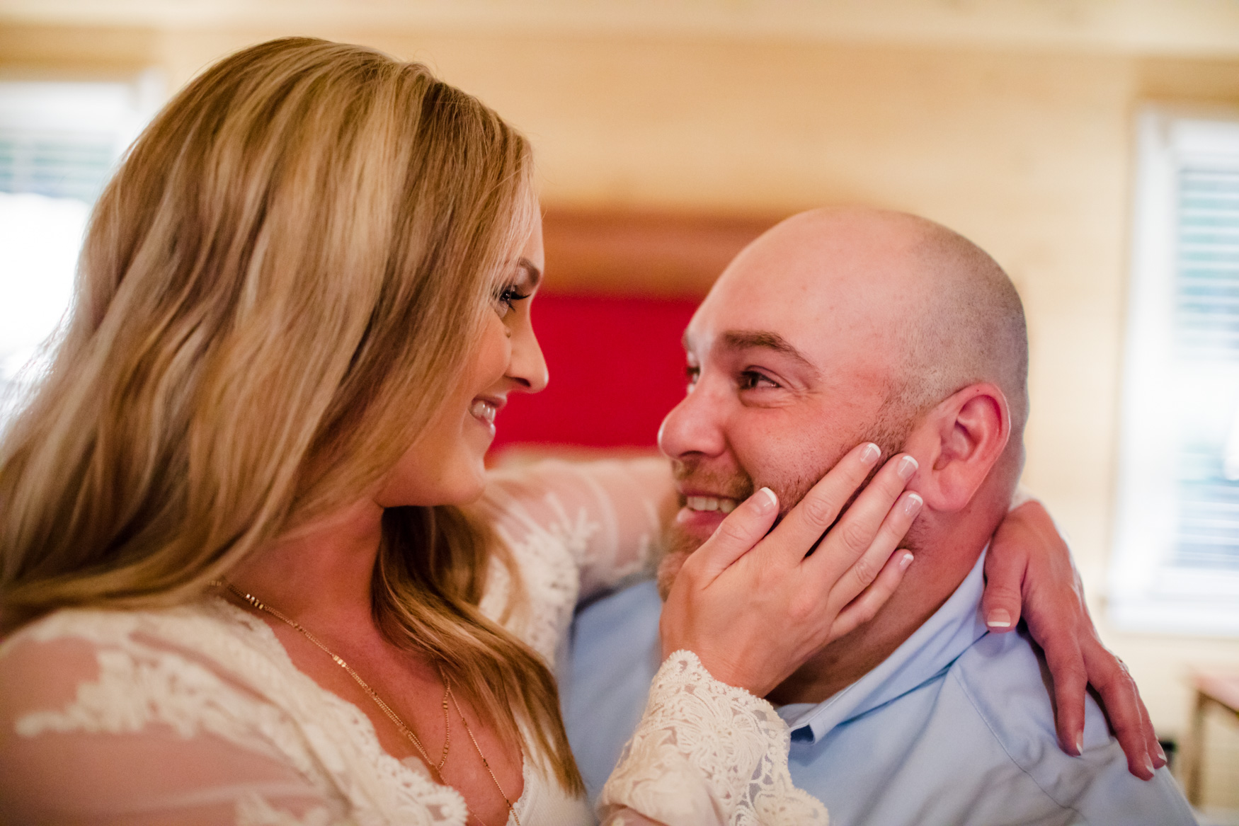 Engagement Session Bedroom The Farm - A Gathering Place Candler NC Wedding Photography