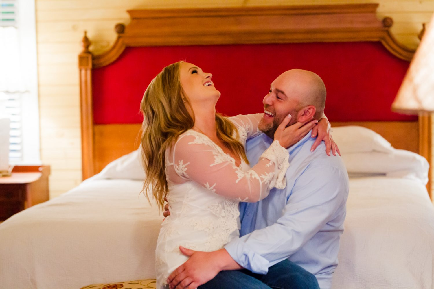 Engagement Session Laughing at The Farm - A Gathering Place Candler NC Wedding Photography