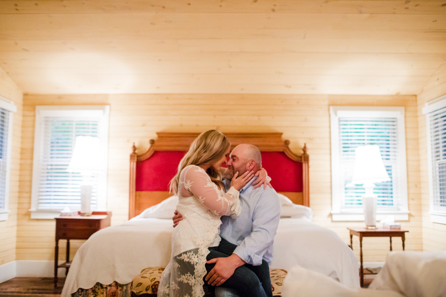 Engagement Session Cabin Room The Farm - A Gathering Place Candler NC Wedding Photography