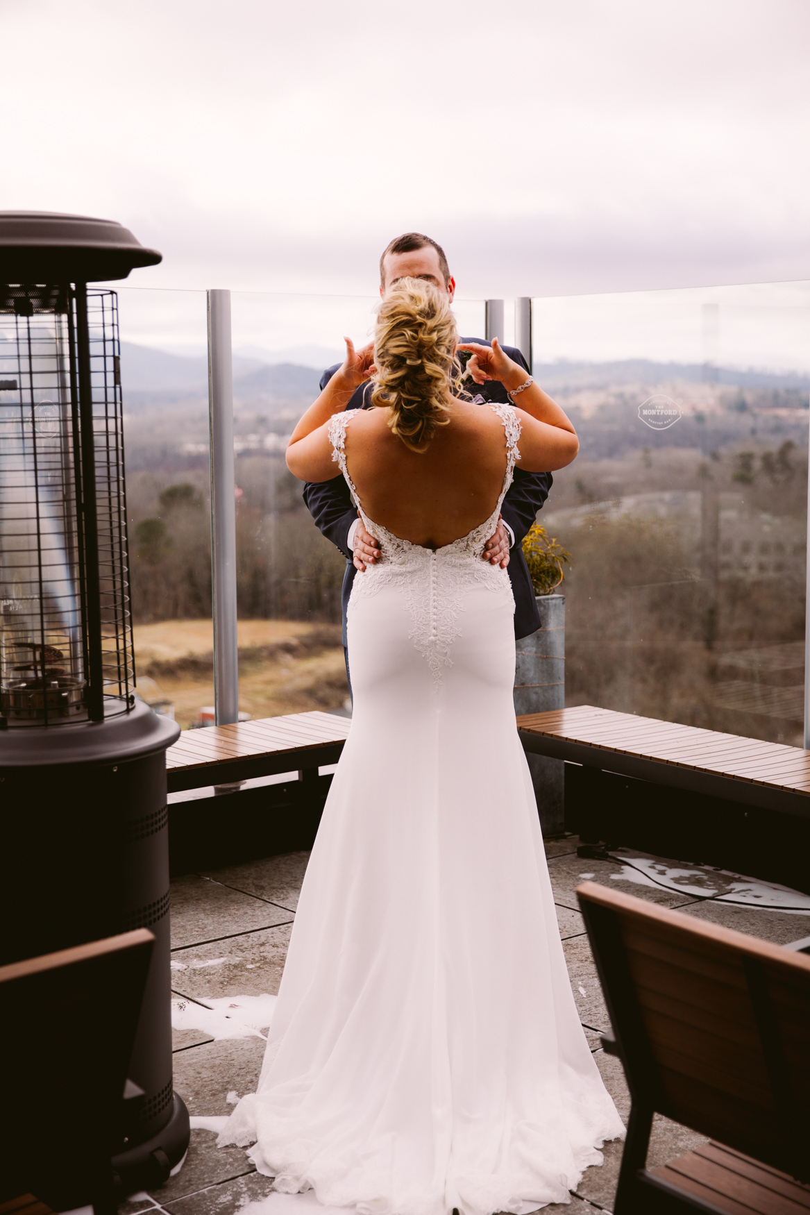 Wedding First Look Montford Rooftop Asheville NC Wedding Photography