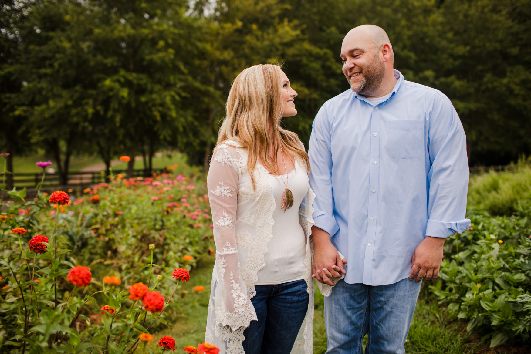 Engagement Session the Garden at The Farm - A Gathering Place Candler NC Wedding Photography