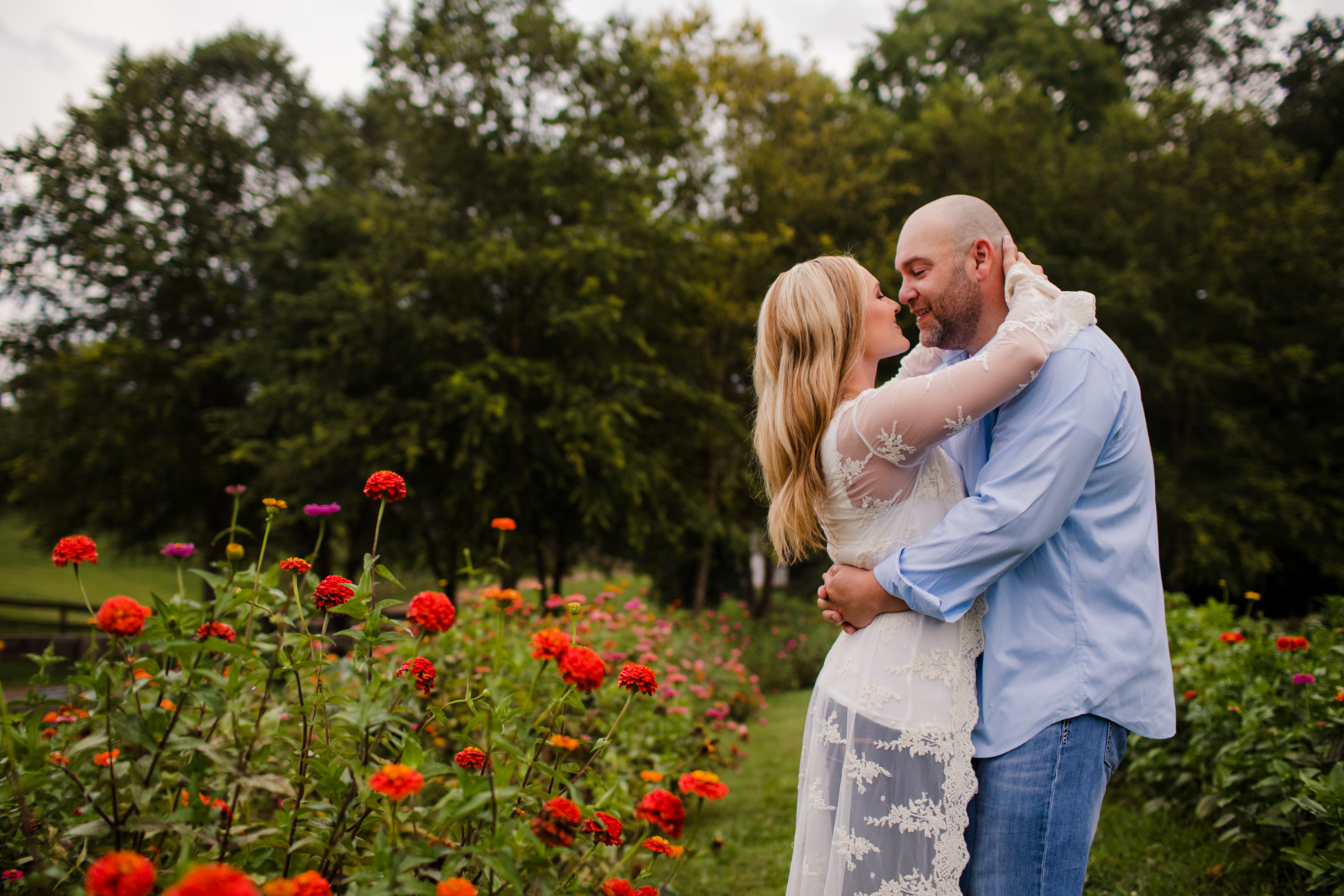 Engagement Session the Garden The Farm - A Gathering Place Candler NC Wedding Photography