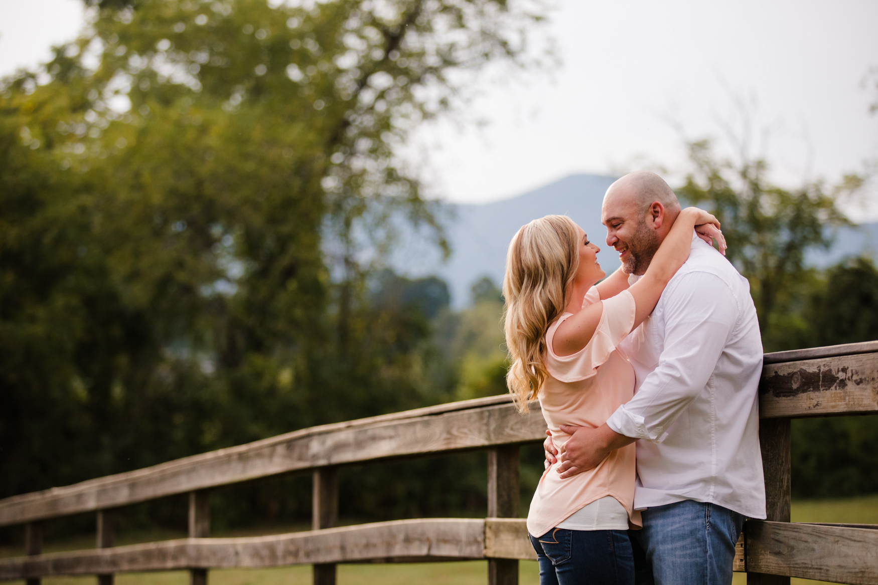 Engagement Session Fence The Farm - A Gathering Place Candler NC Wedding Photography